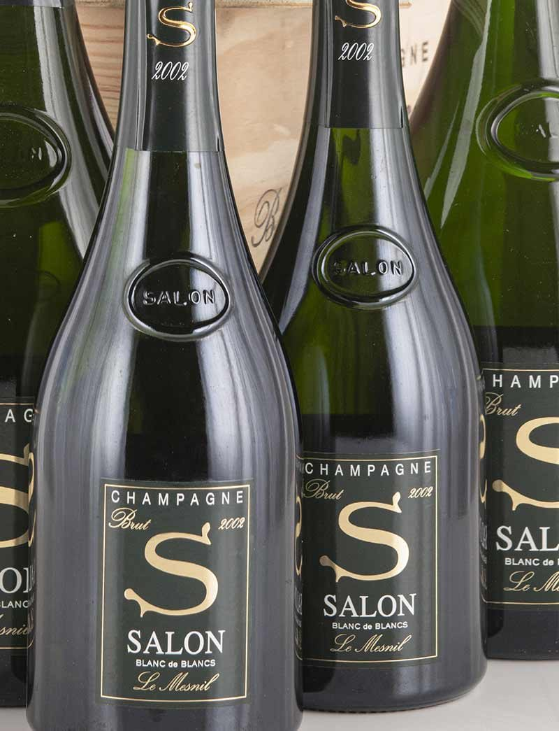 Lot 1000-1009: parcels of 12 bottles 2002 Salon Vintage Champagne Le Mesnil in OWCs