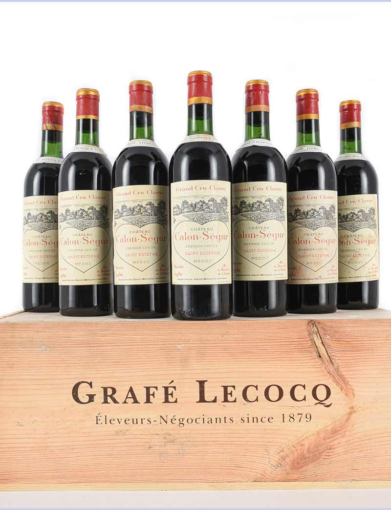 Lot 1080: 12 bottles 1962 Chateau Calon Segur