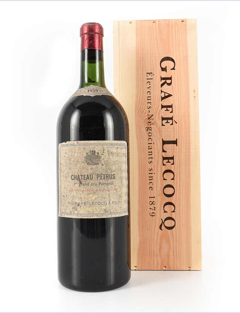 Lot 1100: 1 magnum 1959 Chateau Petrus Grafe-Lacocq in OWC